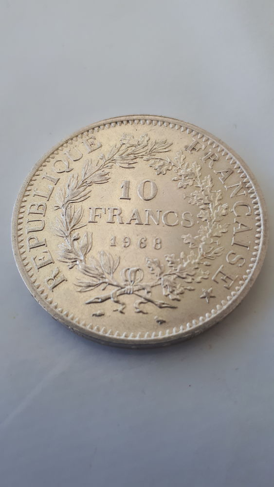 lot de 7 pièces de monnaie 10 F argent, année 1965 à 1970 150 Grabels (34)