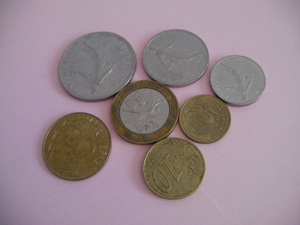 PIECES monnaie en francs 0 Saint-Etienne (42)