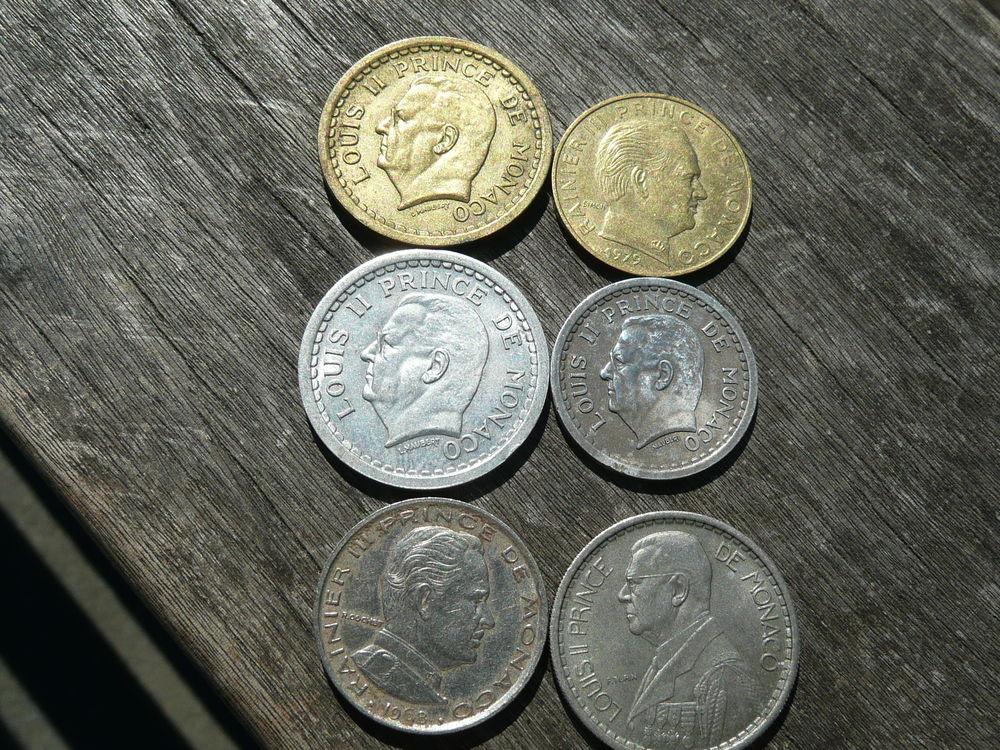 Lot de 6 pièces Monnaie Monaco 21 Bordeaux (33)