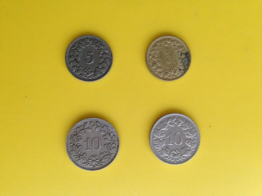 1 lot de 4 pièces de monnaie suisse... 11 Saint-Vallier (71)