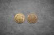 2 pièces de monnaies