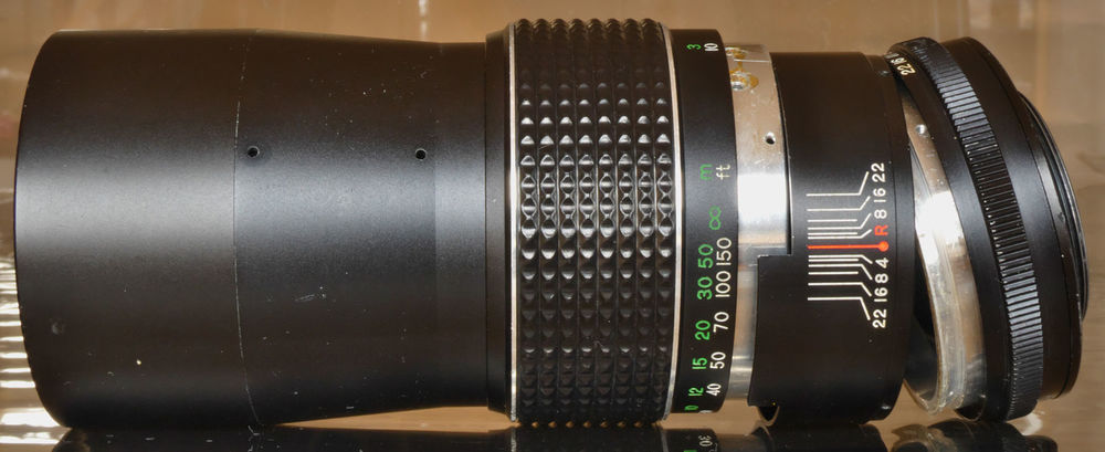 Pièces d'objectif photo ancien EXAKTAR Auto 200mm 3.5 3 Cannes (06)