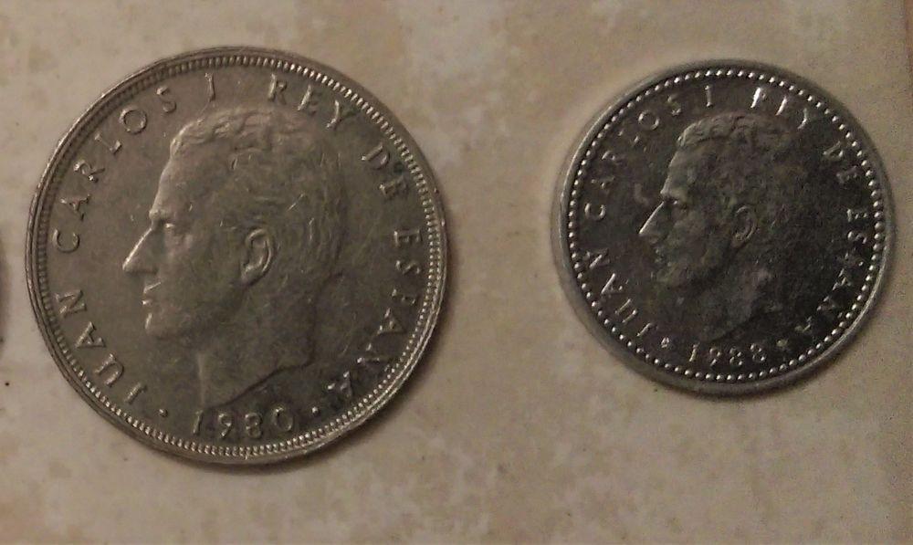 Pièces  PESETAS,   25 et 1   Espagne 1 euro l'unité 1 Marseille 9 (13)