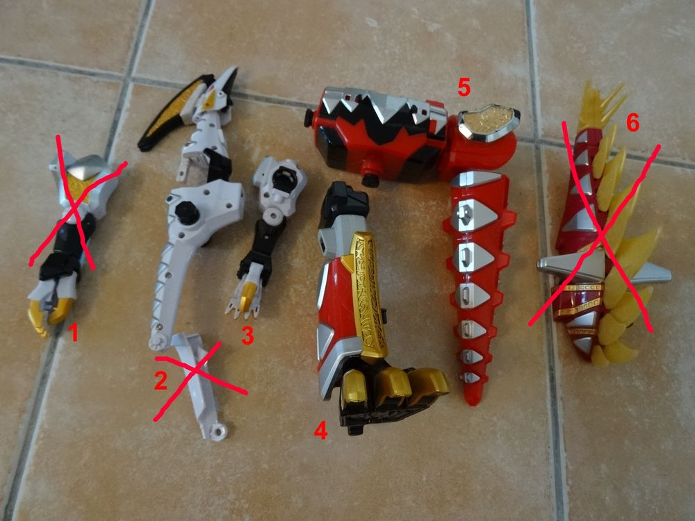 Pièces Power Rangers,Sentai Megazord,Abaranger,Dino Tonnerre 3 Saint-Ambroix (30)