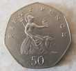 Pièces ROYAUME UNI 50 pence 1982 1 euro