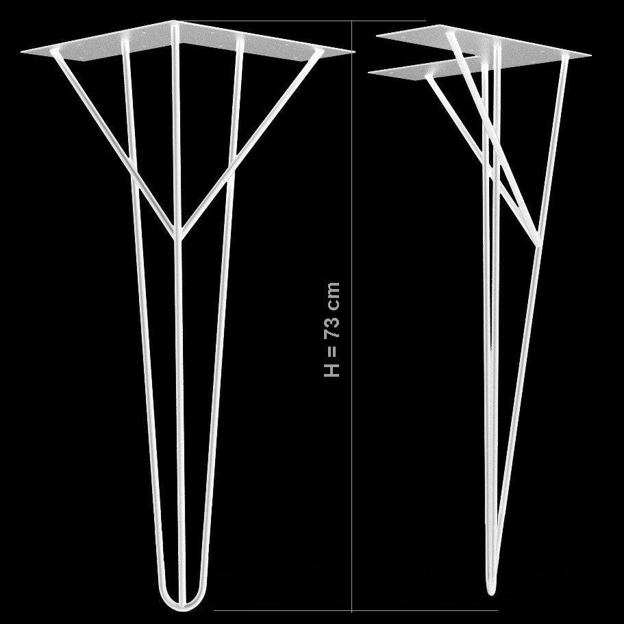Pied design NEUF en métal solide blanc 35 Paris 17 (75)