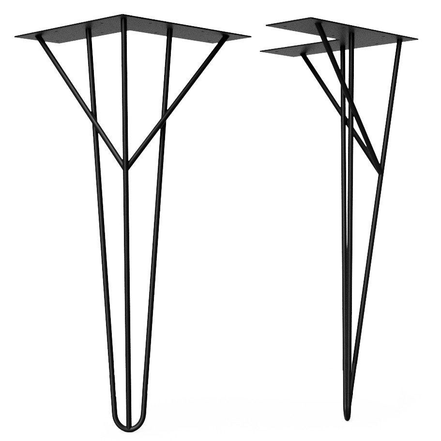 Pied épingle design en acier noir mat H 73 cm NEUF 35 Paris 17 (75)