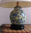 PIED DE LAMPE MOTIFS CHINOIS