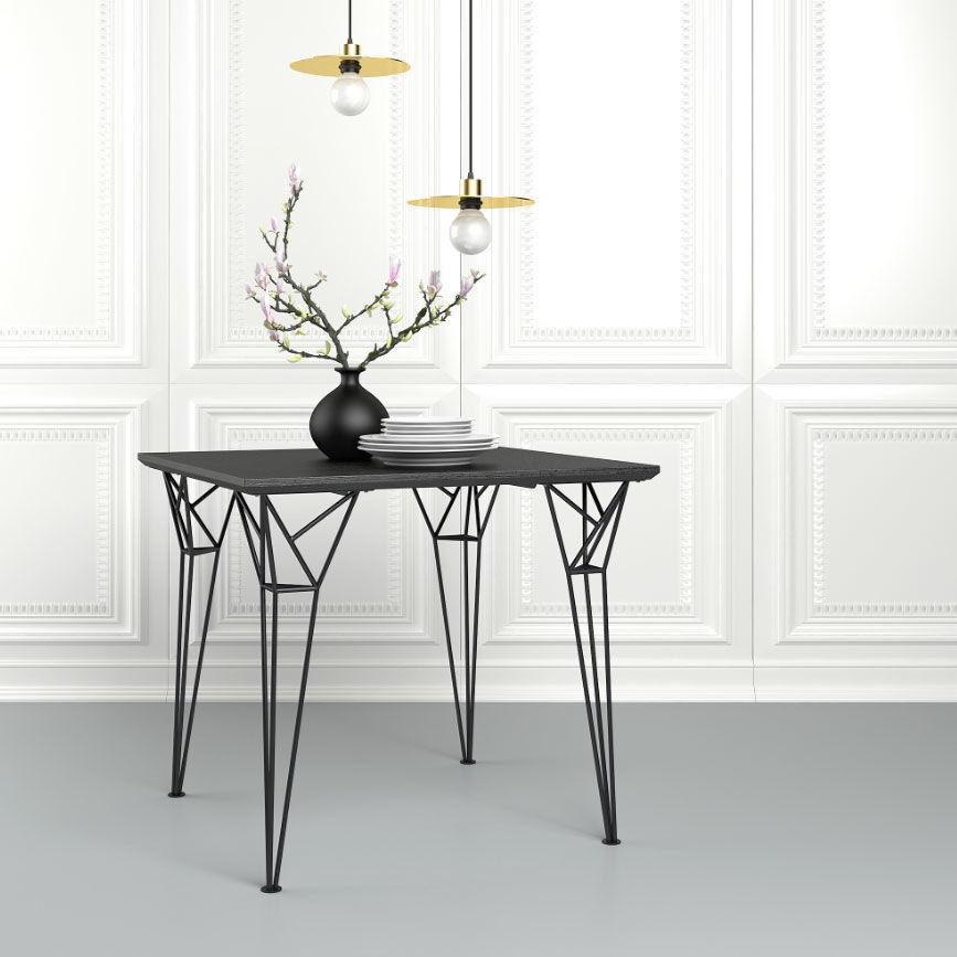 Lot de 4 Pieds Design Eiffel NEUF métal noir Meubles