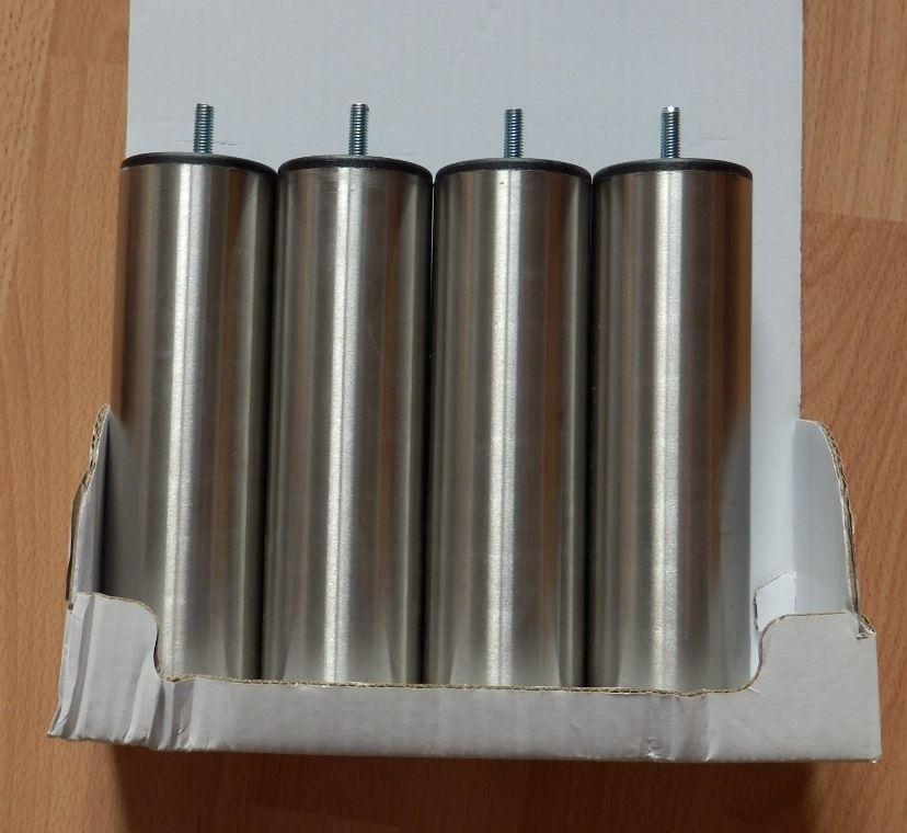 Pieds de sommier gris inox h20 cm - jeu de 4 : NEUF 51 Évry (91)