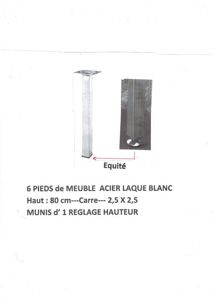 PIEDS 2 TABLE ou 2 PLAN de TRAVAIL - H 80 / carré 2,5 X 2,5  12 Blanzat (63)