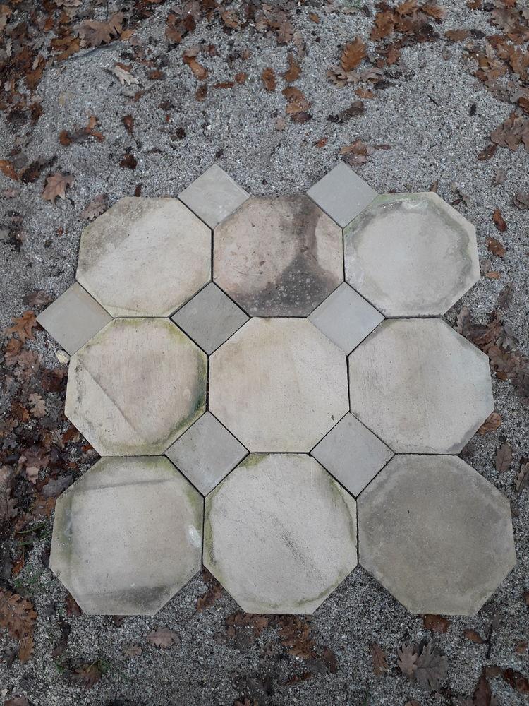 Pierre dalle octogonal ancienne 110 Uzès (30)