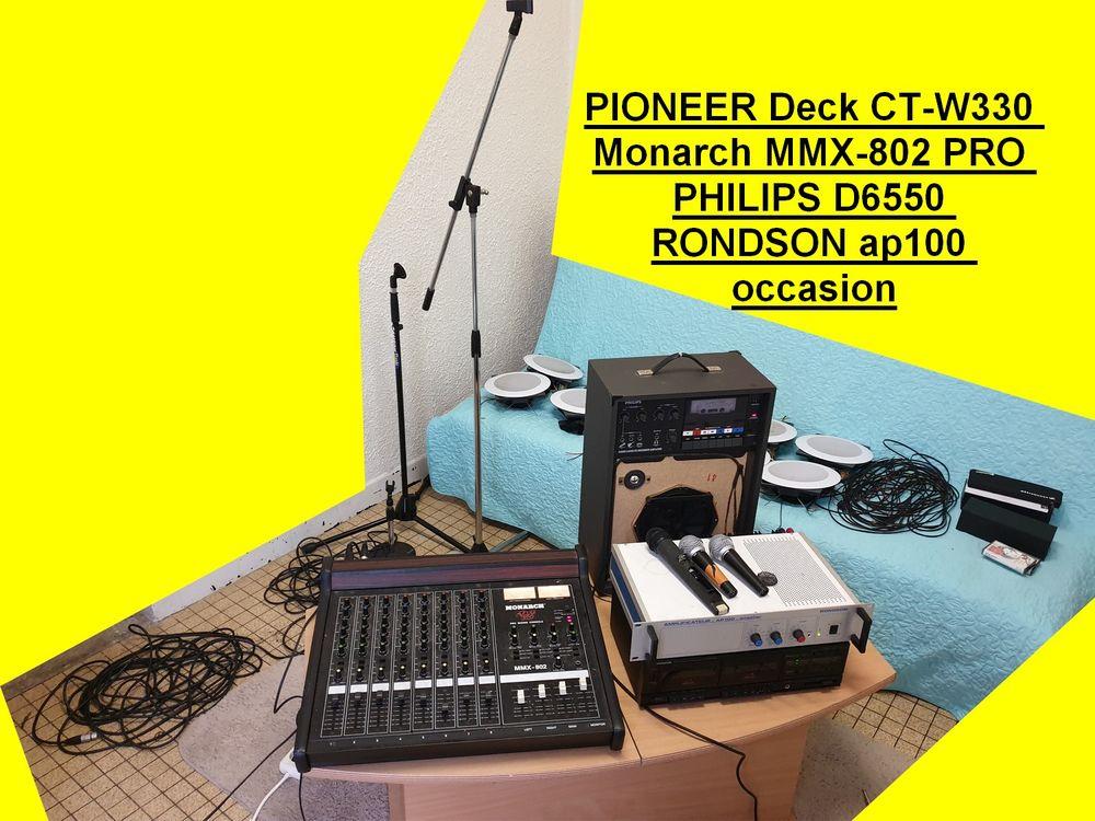 PIONEER Deck CT-W330 Monarch MMX-802 PRO PHILIPS D6550 RONDS 300 Saint-Pôtan (22)