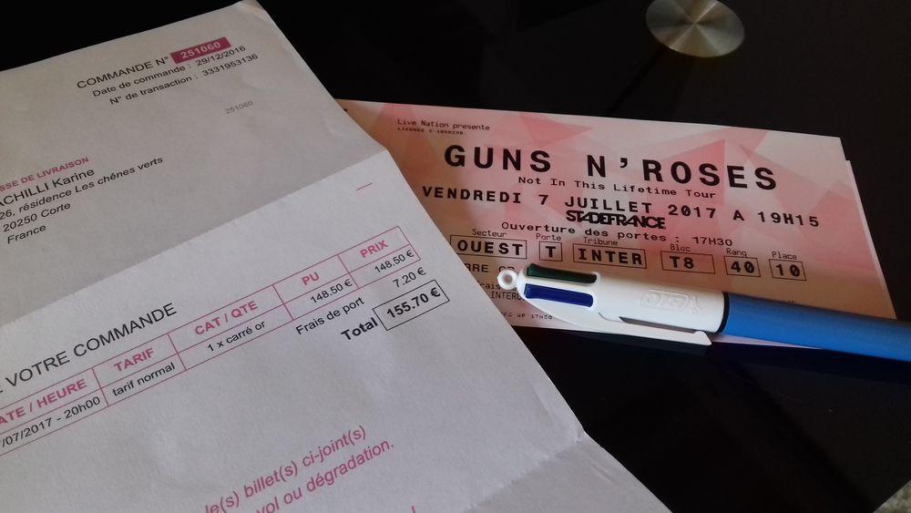 1 place Concert Guns n Roses Paris  carré Or du 07.07.17 148 Corte (20)