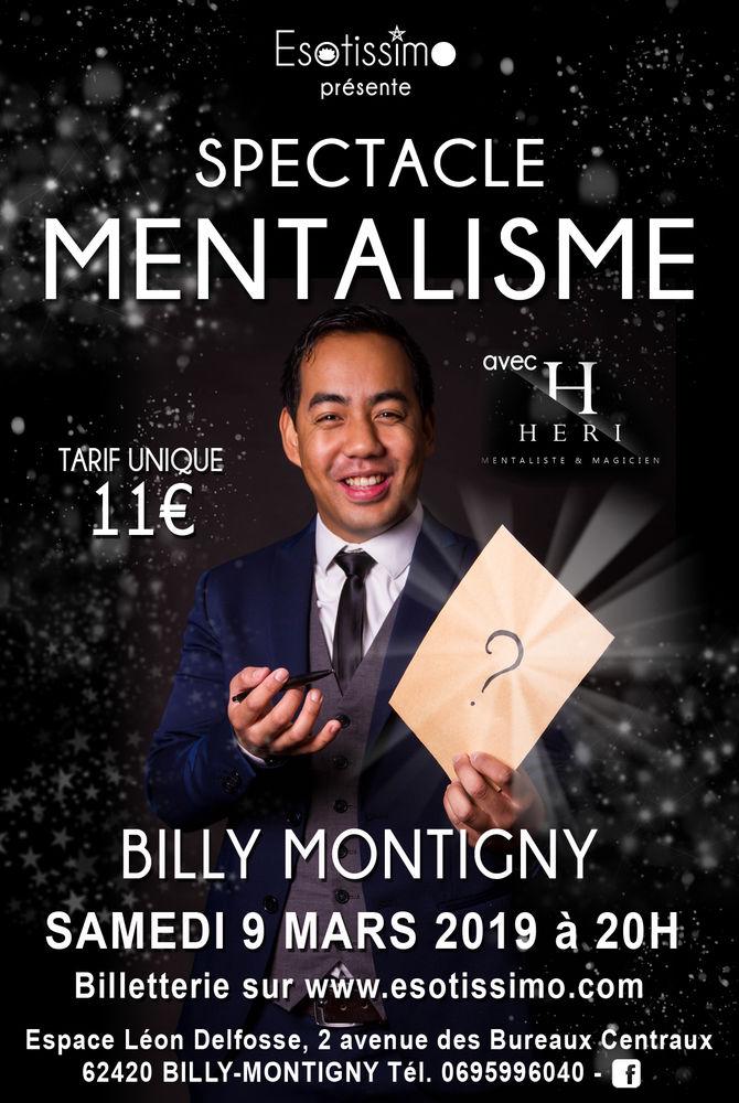 place spectacle mentalisme samedi 9 mars  BILLY MONTIGNY  11 Billy-Montigny (62)