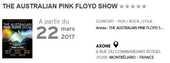 2 places THE AUSTRALIAN PINK FLOYD SHOW à l'Axone 55 Lure (70)