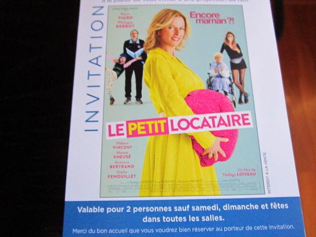 2 Places de Cinéma LE PETIT LOCATAIRE 8 Vaux-sur-Blaise (52)