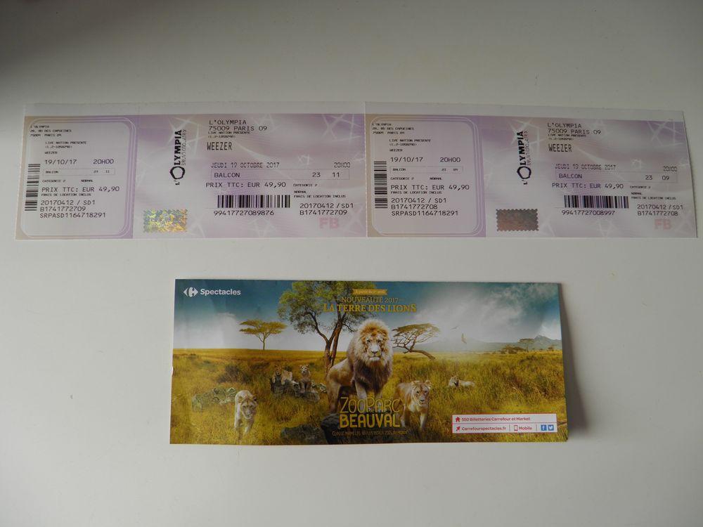 02 places concert de WEEZER === A SAISIR !!! === Billetterie