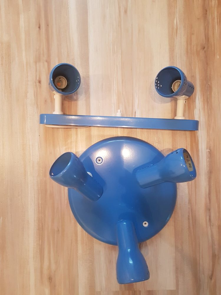 Plafonnier 3 ampoules + Spot 2 ampoules, bleus 3 Coubert (77)