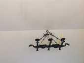 Plafonnier fer forgé dragon avec 16 bougies 1800 Fontvieille (13)