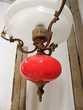 PLAFONNIER LAMPE SUSPENSION LUSTRE METAL DORE ART DECO tbe Décoration