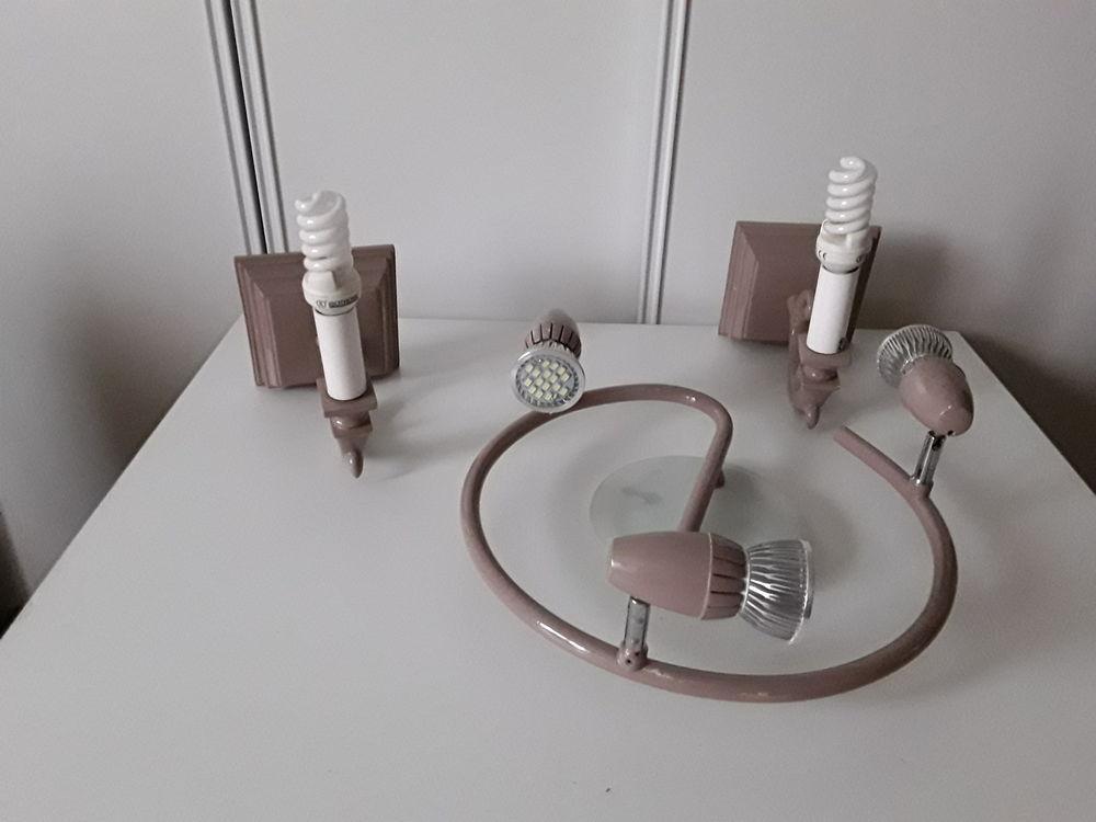 Lot plafonnier lampes LED+appliques  Bon etat  20 Le Coudray (28)