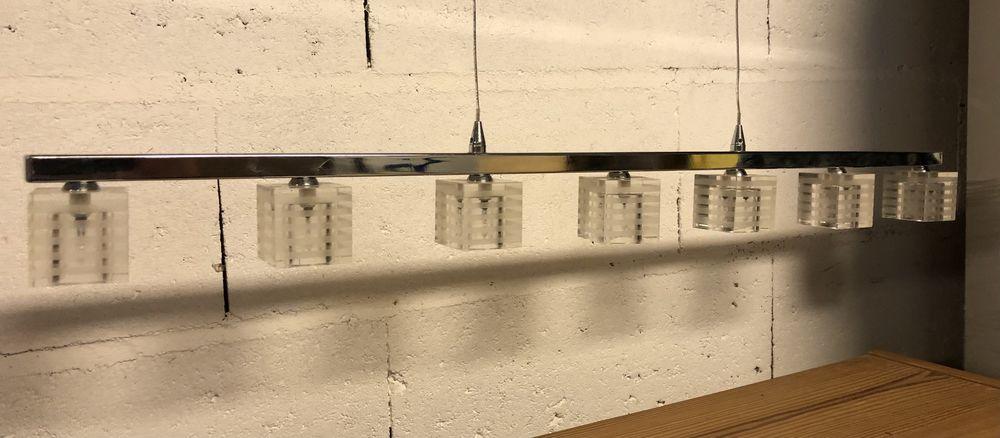 Plafonnier suspendu halogène 7 appliques en verre - Max 150W 25 Rambouillet (78)