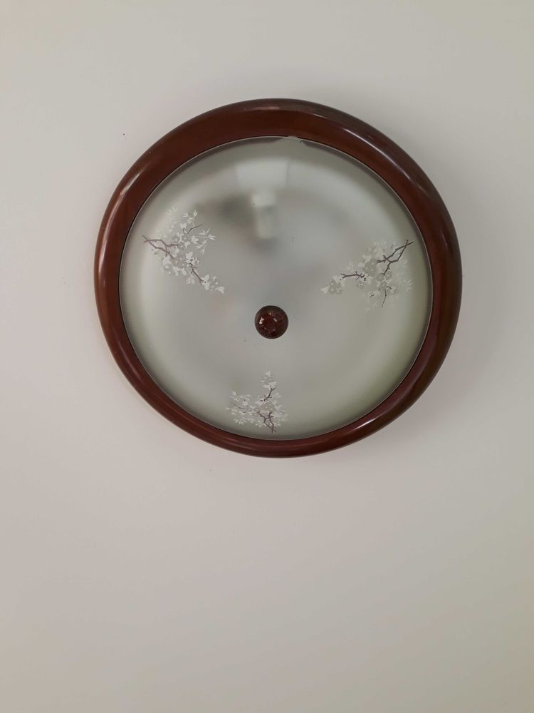 Plafonnier verre et bois 10 Gurmençon (64)