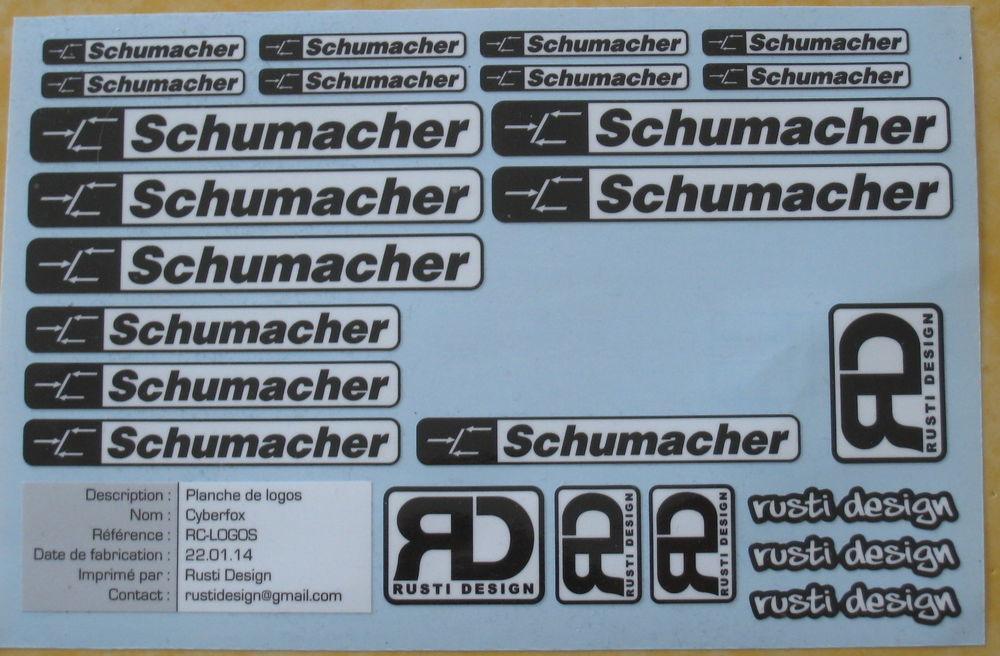 Planche d'autocollants Schumacher 10 Fleury-les-Aubrais (45)
