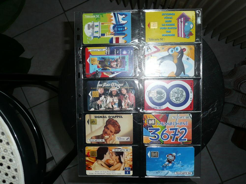 Planche de 10 cartes téléphonique dans leurs étuis