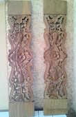 Planche sculptée en bois d'Indonésie 25 La Réunion (97)