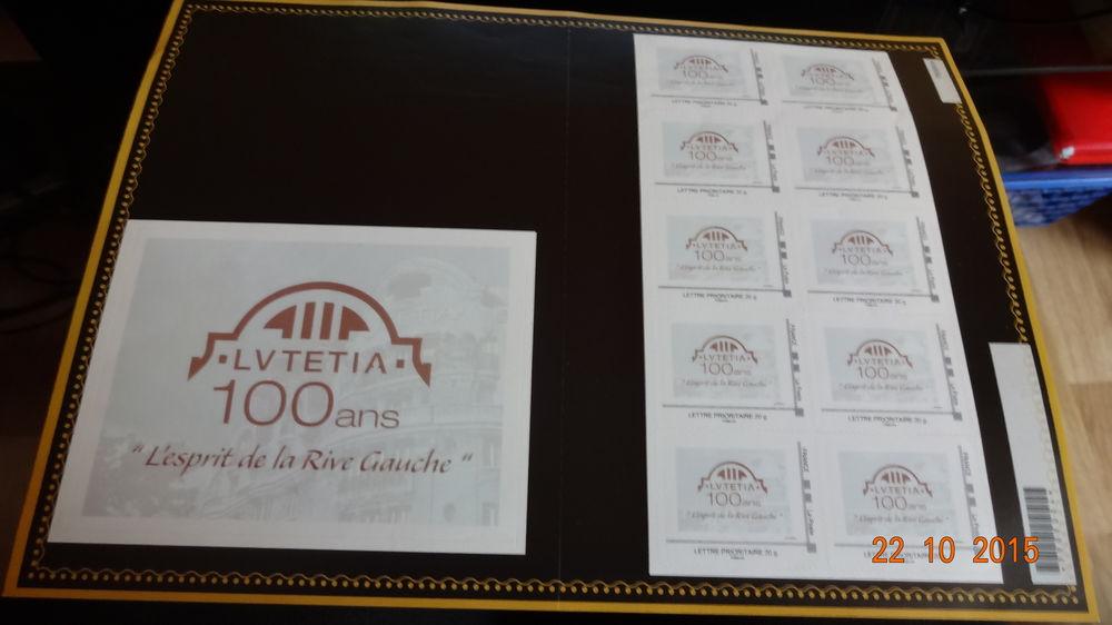 planche de 10 timbres du Lutetia pour les 100 ans 100 Hyères (83)
