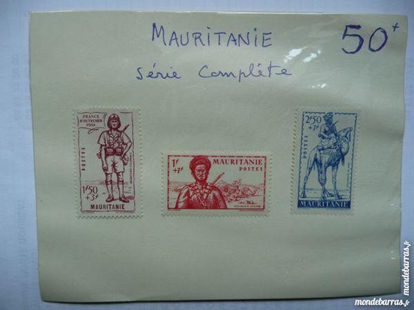 Planche de 3 timbres Mauritanie série Complète