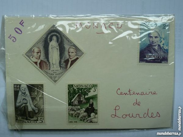 Planche de 4 timbres neuf Monaco 1858-1958 11 Bordeaux (33)