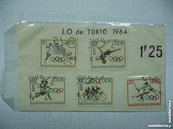 Planche de 5 timbres J.O de Tokyo 1964 4 Bordeaux (33)