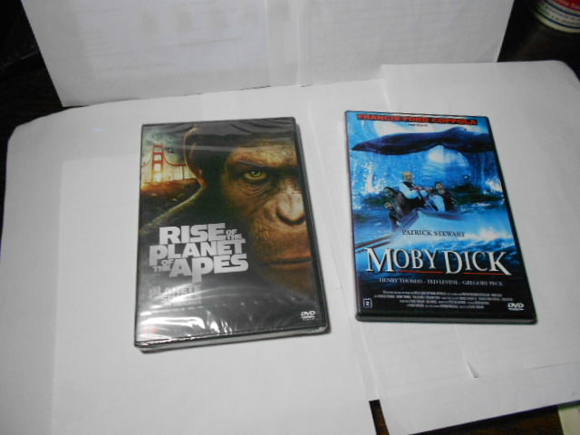 2 DVD La planete des singes les origines 2  ET MOBY DICK  11 Montauban (82)