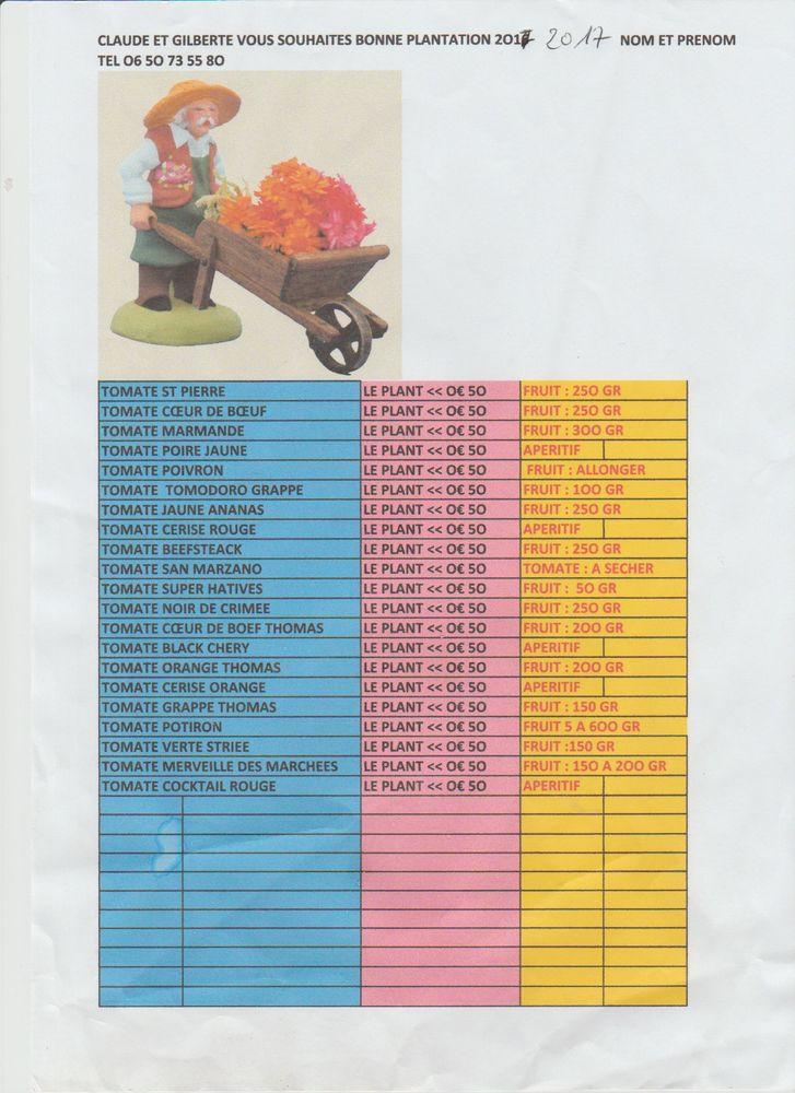 PLANTS DE TOMATES ET DE LEGUMES LE PLANTS DE TOMATE 0 €50  5 Sartrouville (78)