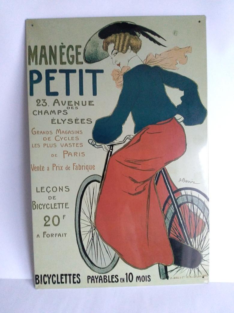 Plaque en fer bicyclette 30 Calais (62)