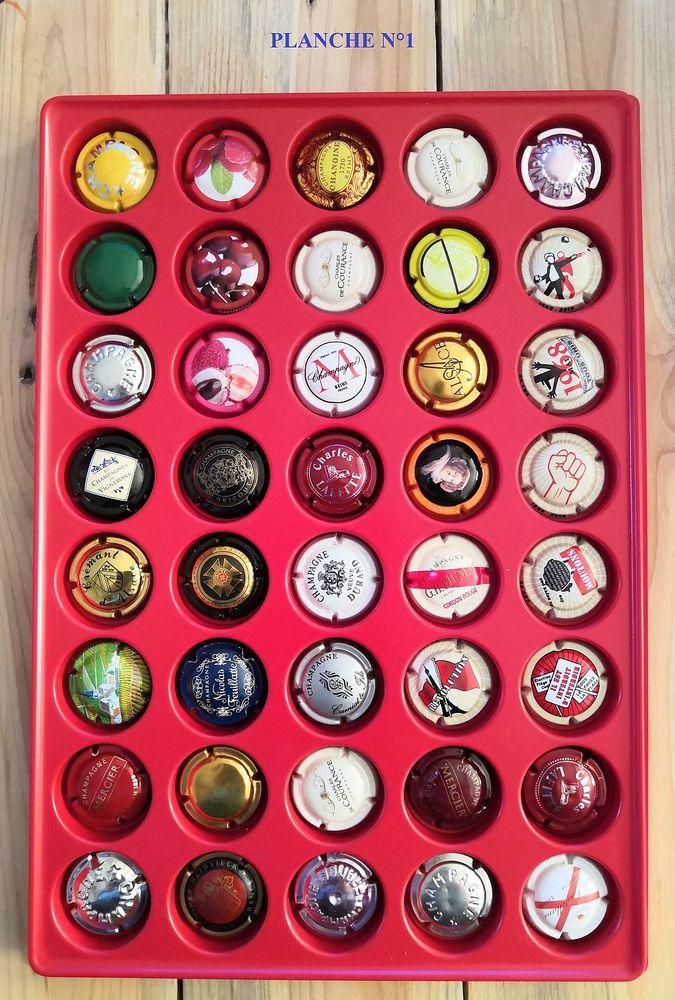 Plaque de 40 capsules de Champagne 20 La Seyne-sur-Mer (83)