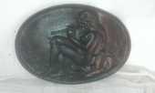 Plaque cheminée fonte décor femme 30 Cahors (46)