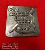 Plaque commémorative en laiton  150 Saint-Denis (97)