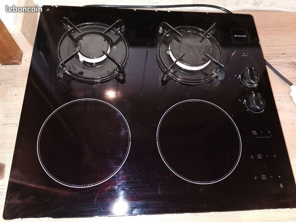 Plaque cuisson mixte gaz et induction Brandt  180 Feins (35)