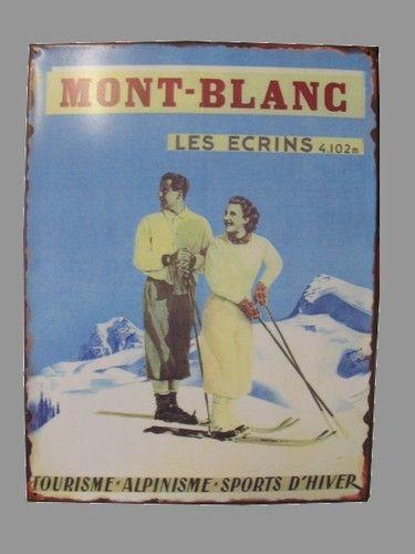 Plaque Métal 35x26,5 les ecrins 4.102 m mont-blanc NEUF 15 Saint-Pôtan (22)