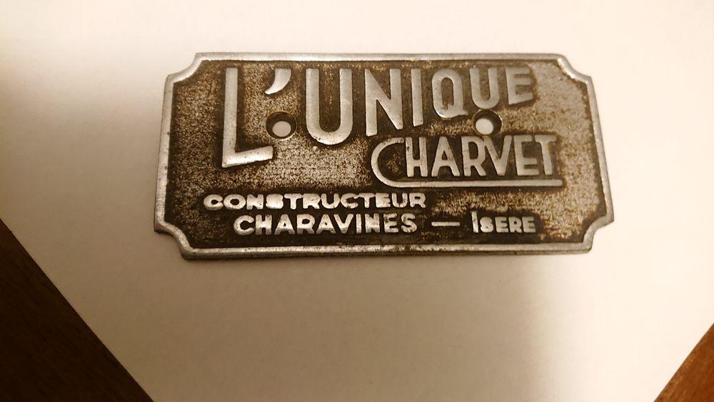 plaque métal ancienne fabricant  de fourneaux Charvet 15 Bourg-en-Bresse (01)