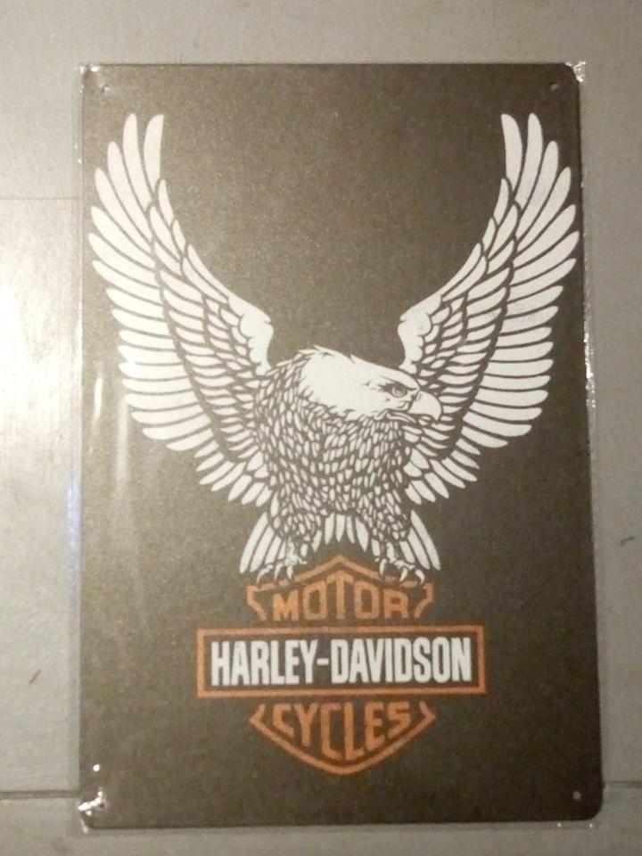 PLAQUE METAL HARLEY DAVIDSON AILES  moto 30 CM PAR 20 CM  7 Saint-Brieuc (22)