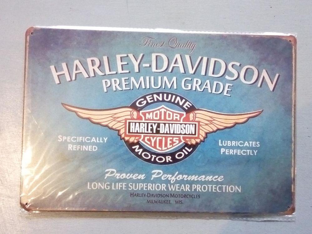 PLAQUE METAL HARLEY DAVIDSON AILES B MOTO 30 CM PAR 20 CM  7 Saint-Brieuc (22)