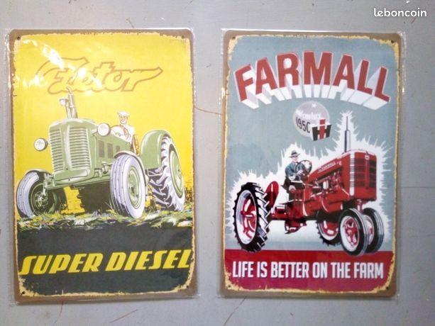 PLAQUE METAL ZETOR FARMAL  RENAULT TRACTEUR 30 CM PAR 20 CM 7 Saint-Brieuc (22)