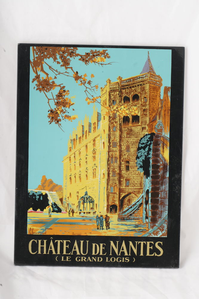 Plaque peinte à la main Chateau de Nantes 10 Vincennes (94)