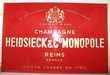 Plaque publicitaire Champagne Heidsieck & C° Monopole.
