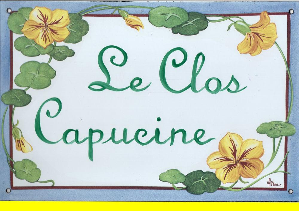 Plaque totem émaillée 20X30 C.FEY LE CLOS CAPUCINE Décoration